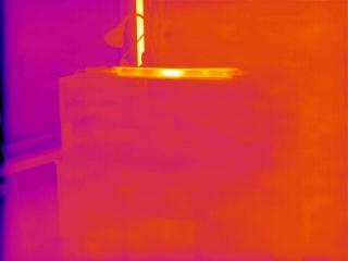 pohled infrakamerou do akvária - IR